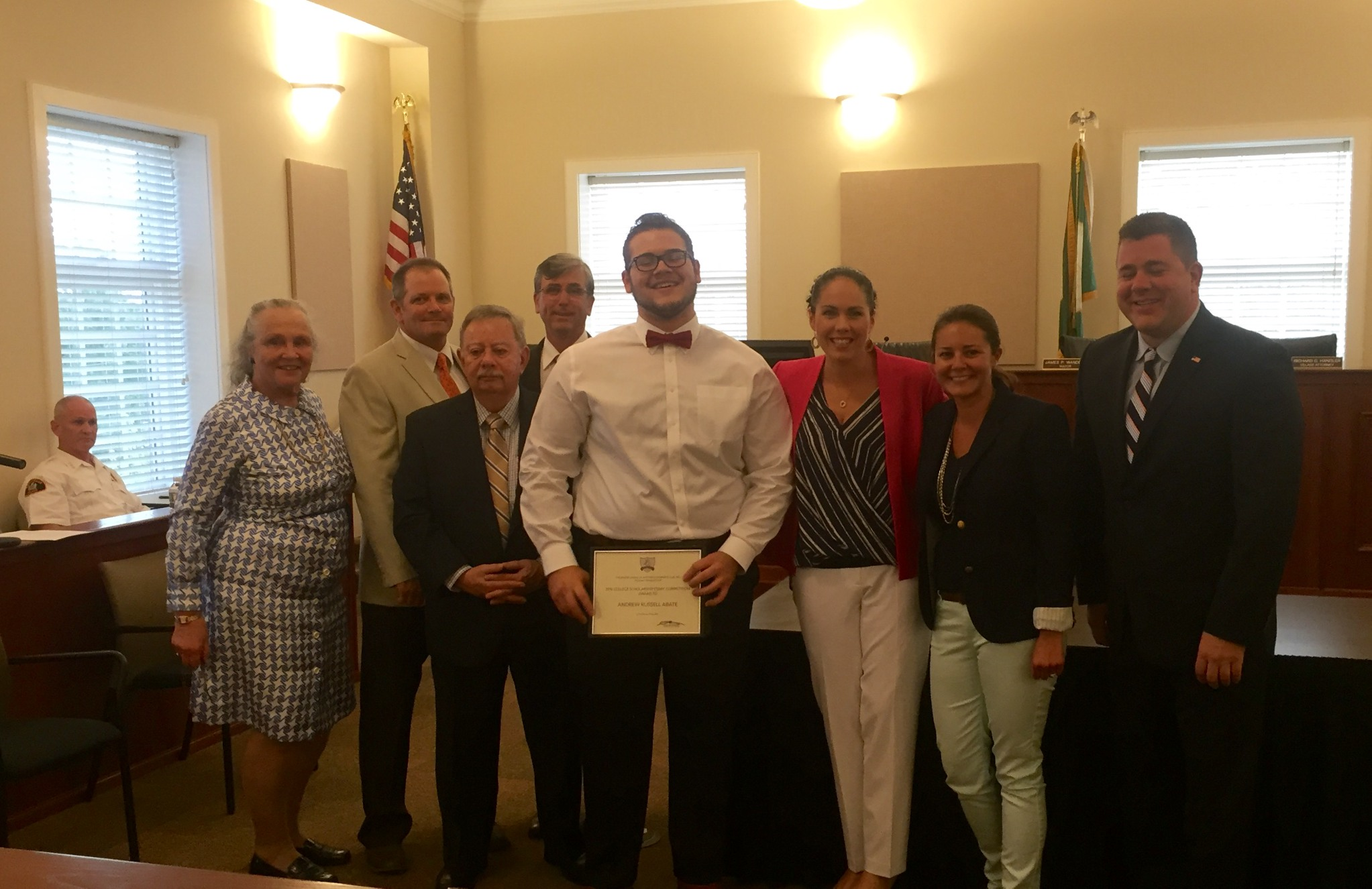 ANDREW WITH THE JUNIOR LEAGUE AND THE VILLAGE TRUSTEES AND MAYOR