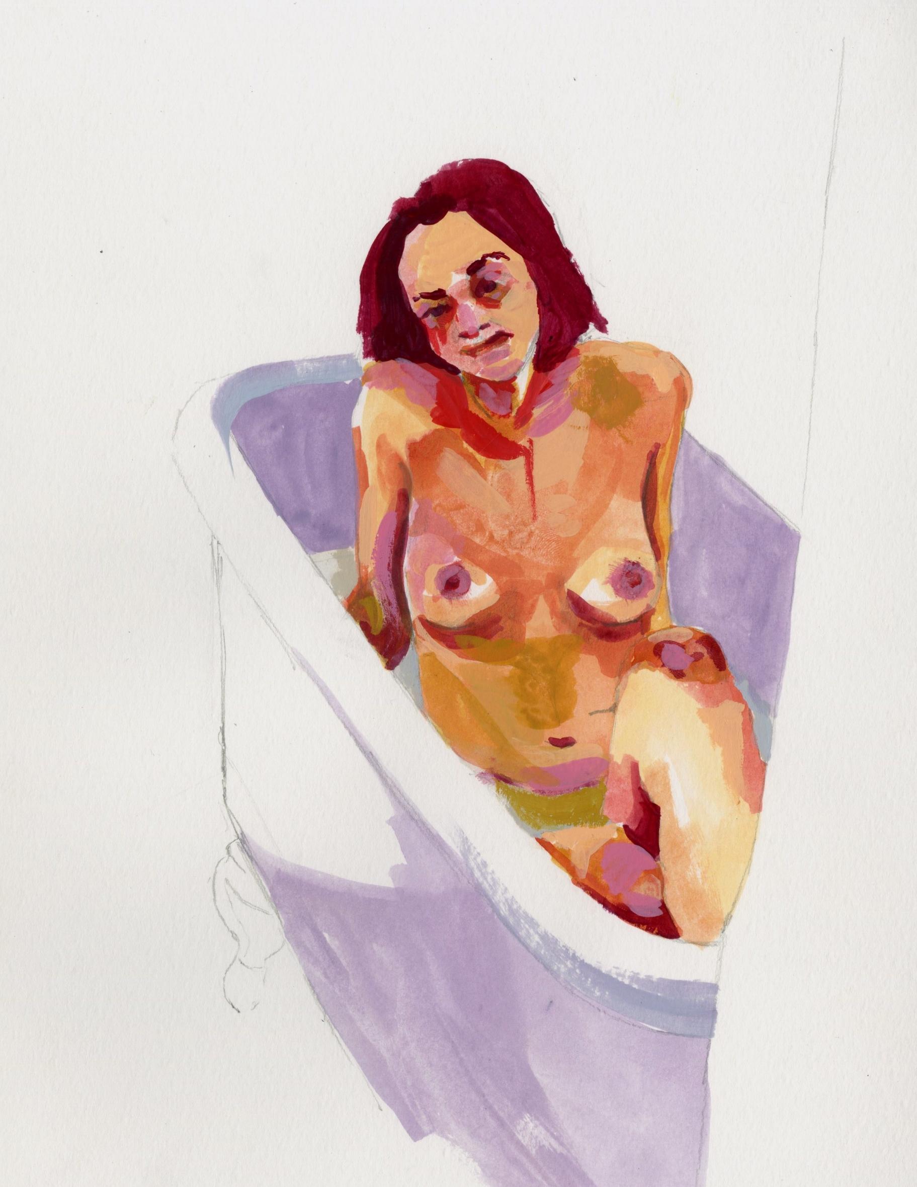 Claudia Bathing