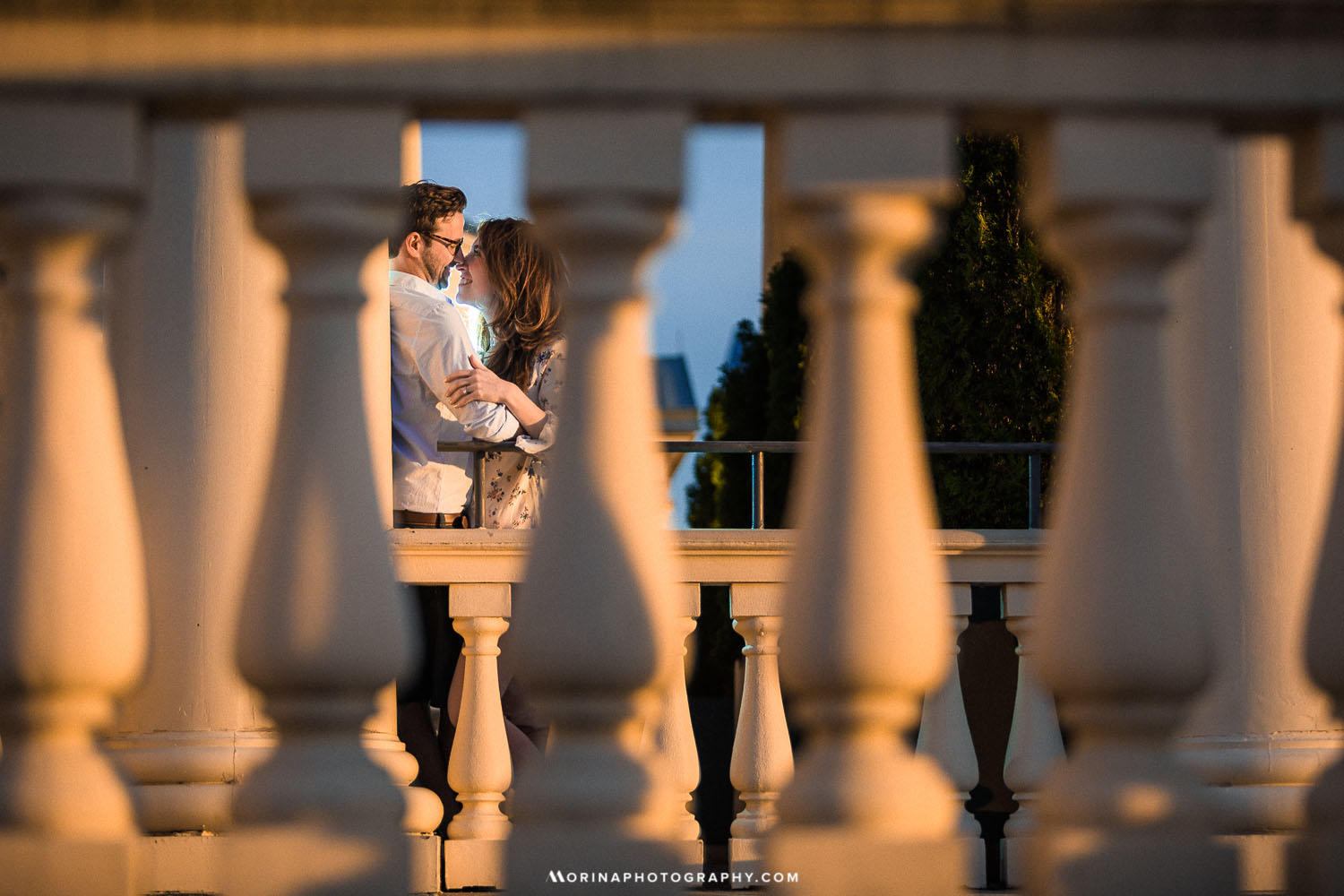 Waterworks engagement photo session