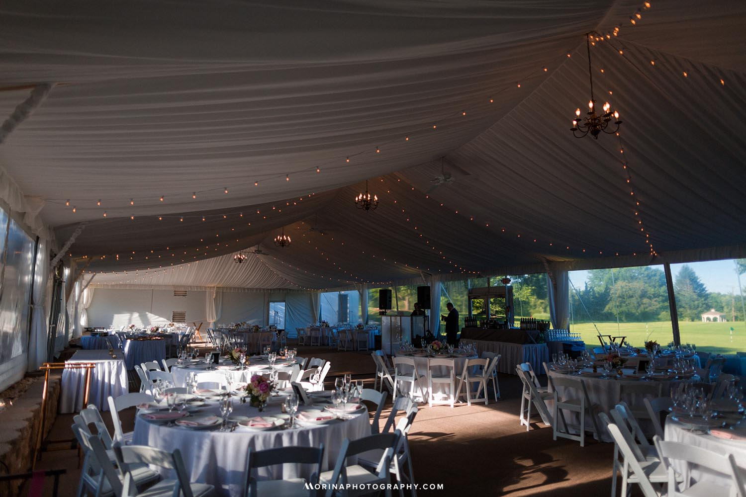 Tent at Basking Ridge Country Club, New Jersey