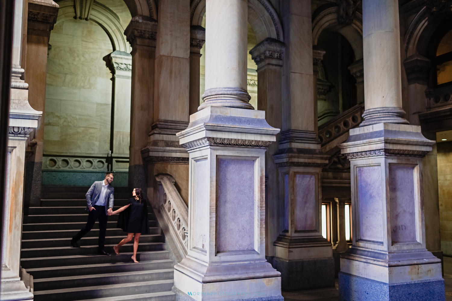 Engagement Session at City Hall in Philadelphia