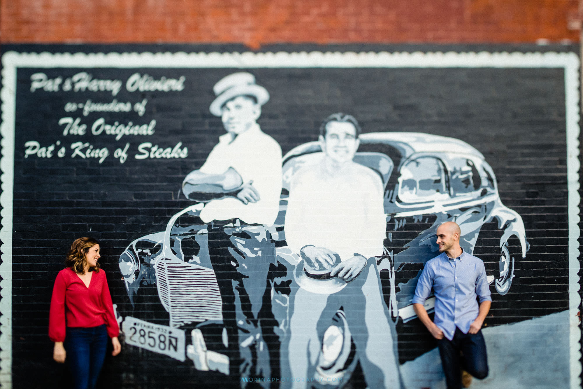 South Philly Engagement Session by Pats & Ginos