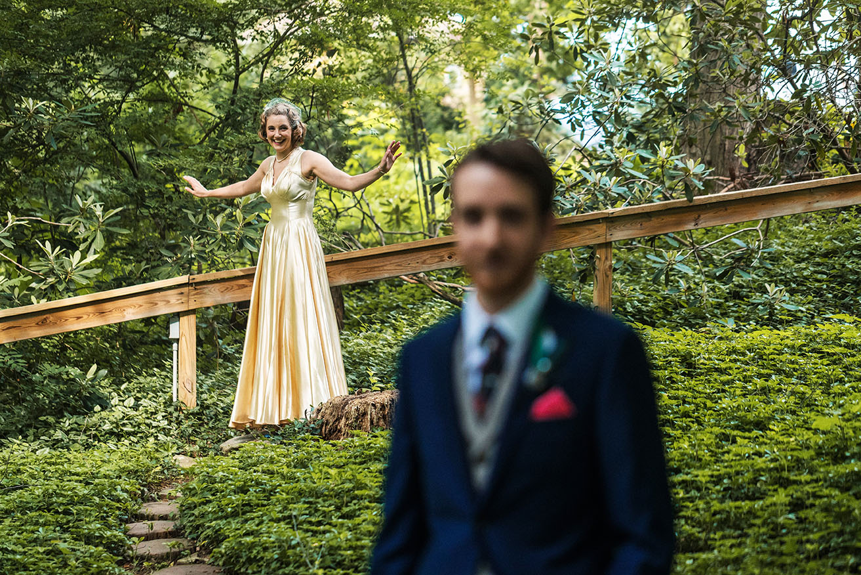 Wedding First look in Honeybrook