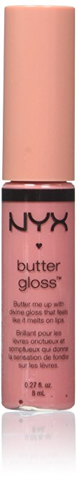 Butter Glosses by NYX are my favorites! I love the Creme Brulee and Merangue colors.