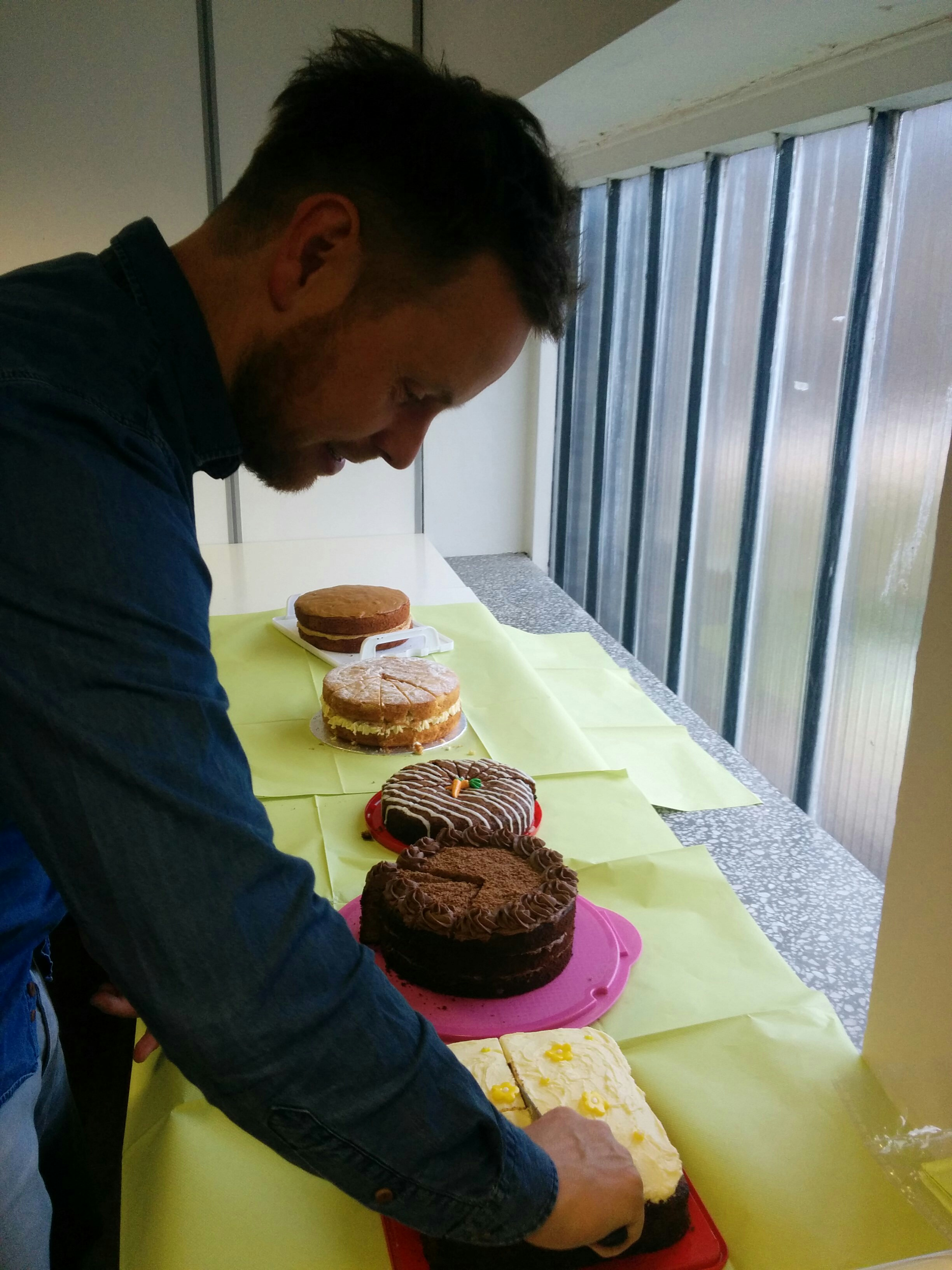 CEO Colin Hewitt and his phenomenal cake selection