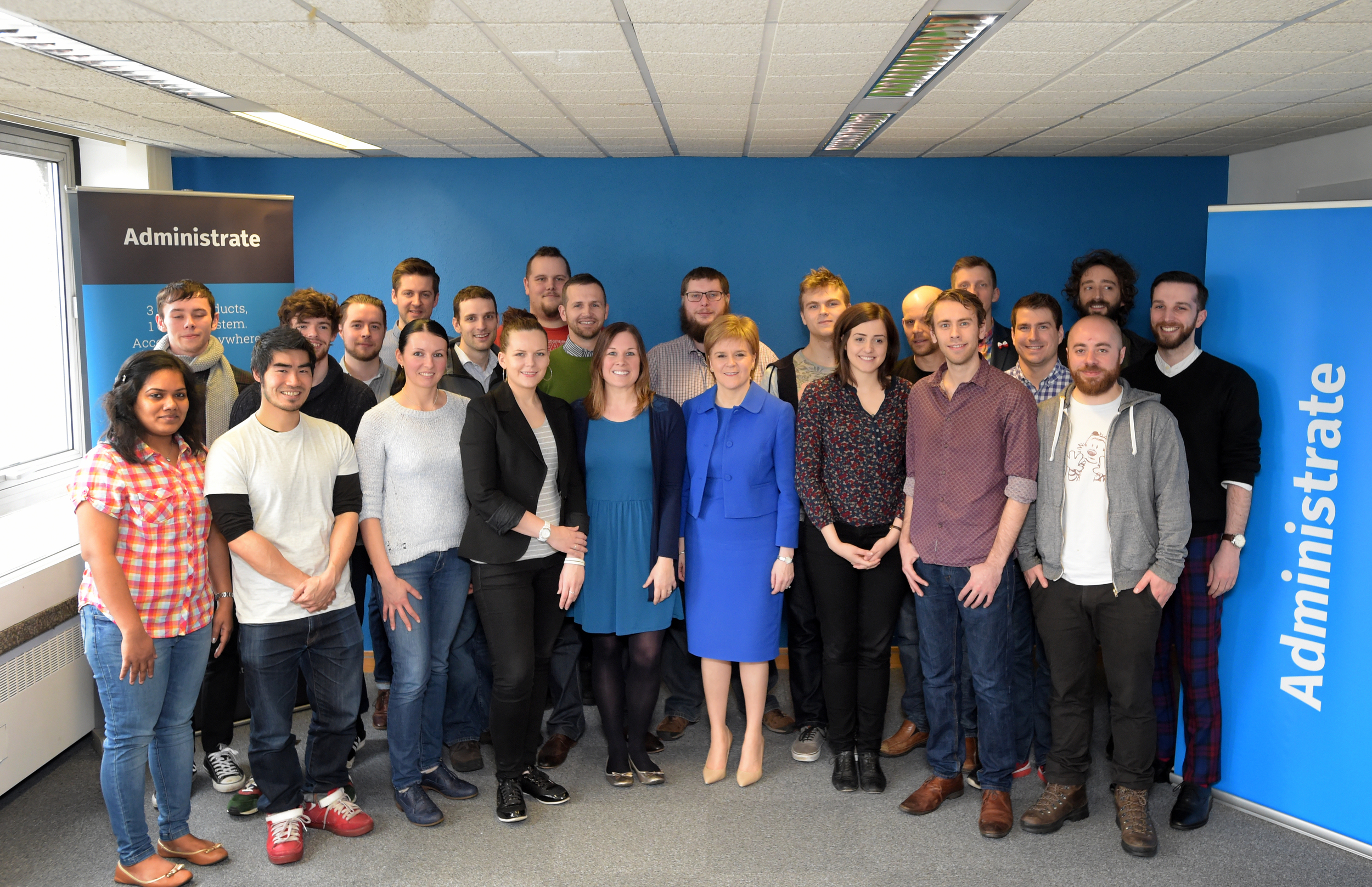 Nicola Sturgeon and team Administrate