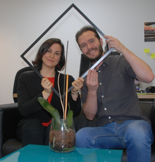 Monica, Blaise, and office orchid