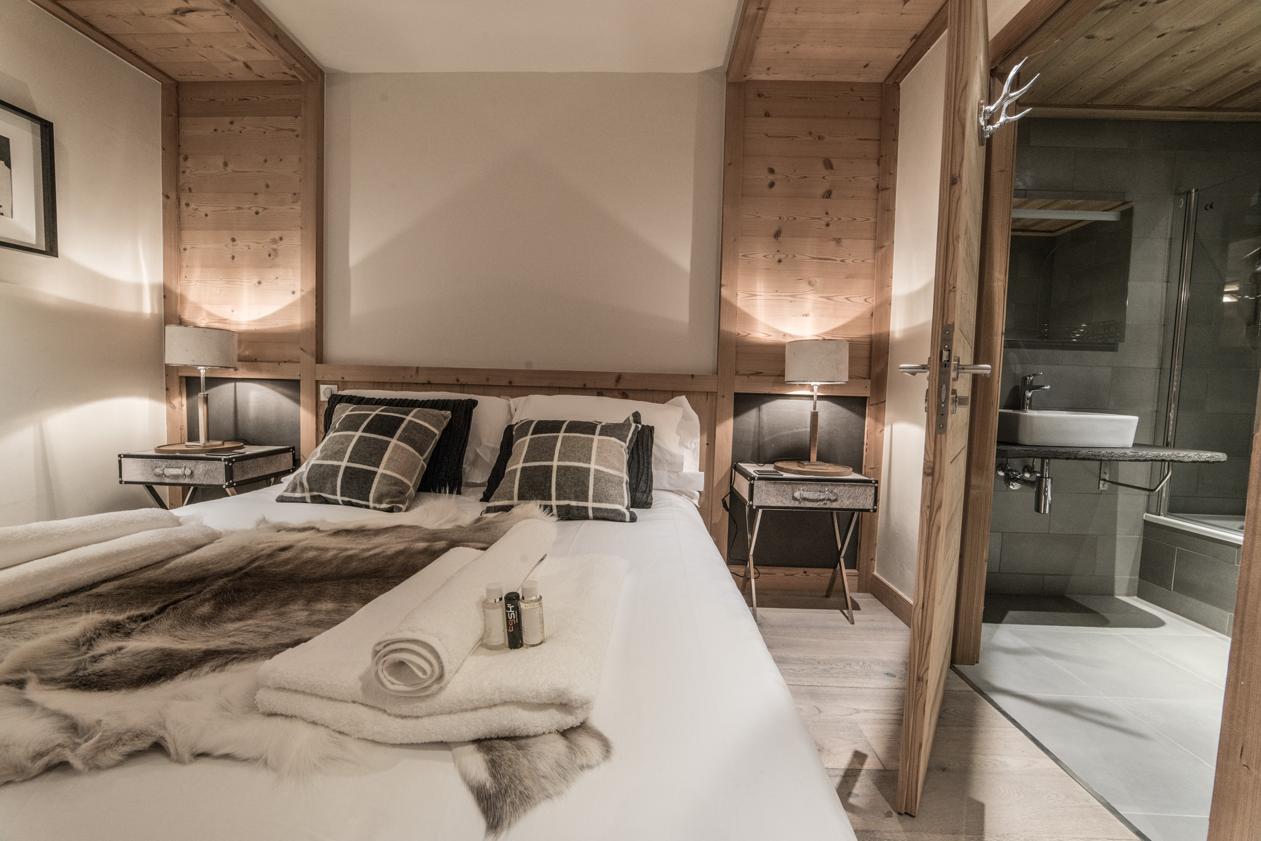 Les Pierrys bedroom 1 with en-suite bathroom