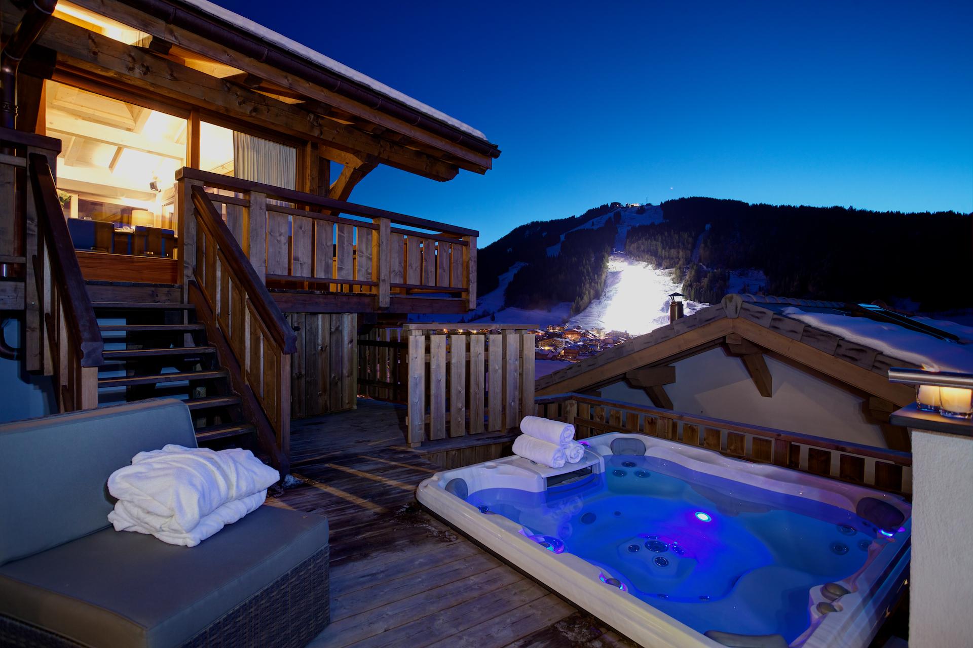 Hot tub, Chalet Bouquetin, Morzine