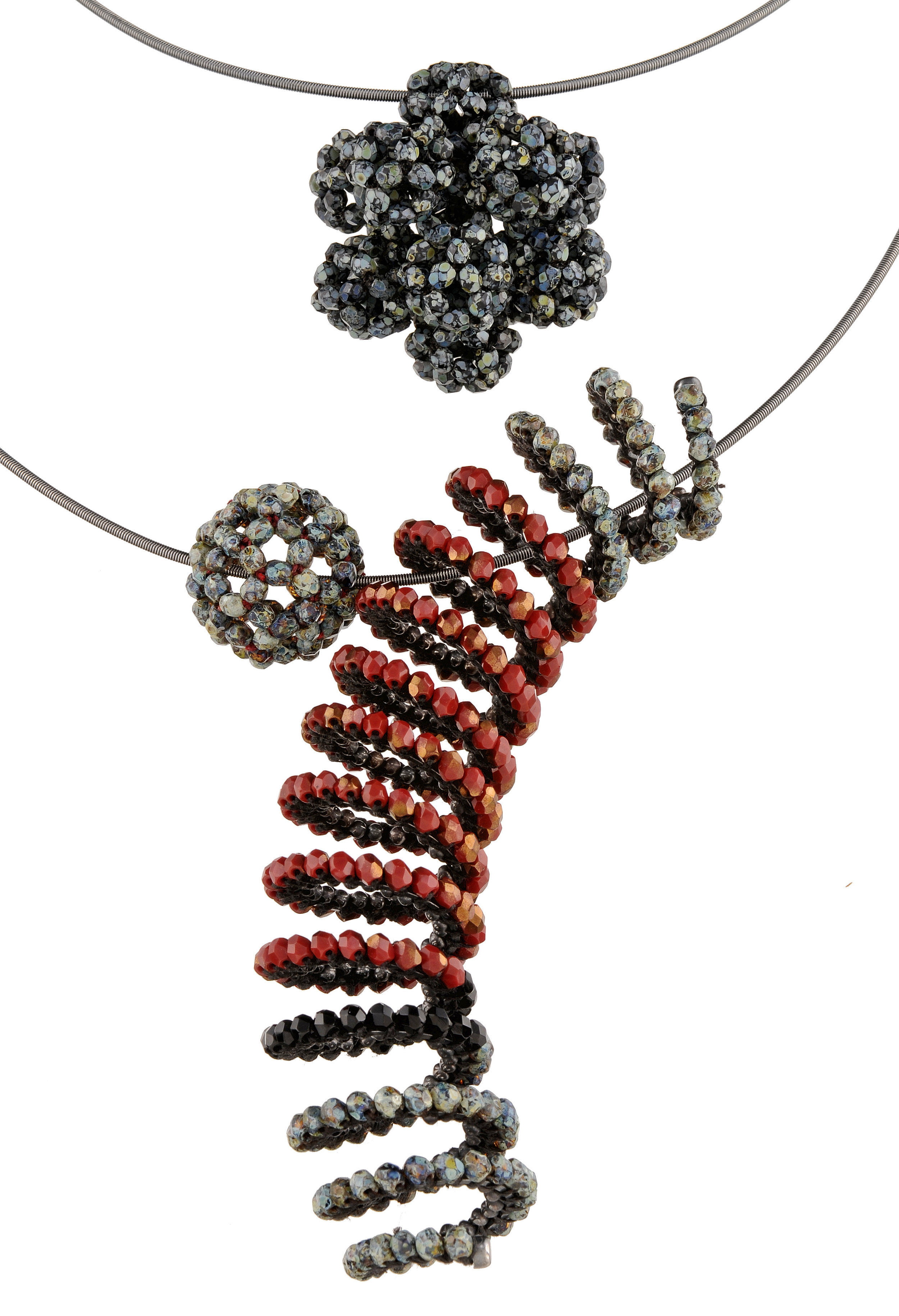 Sphere and Spiral Necklaces.jpg