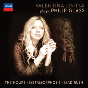 The cover of  Valentina Lisitsa Plays Philip Glass  (2015), a two CD-set.
