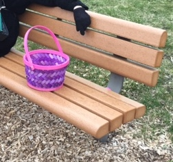 Easter basket being guarded by Mom Easter 2016.jpg