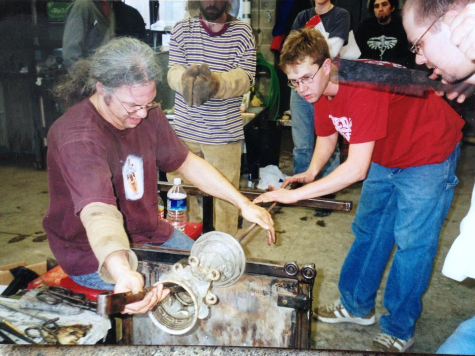 Craftspeople alan goldfarb in the process of making glass mid career.jpg