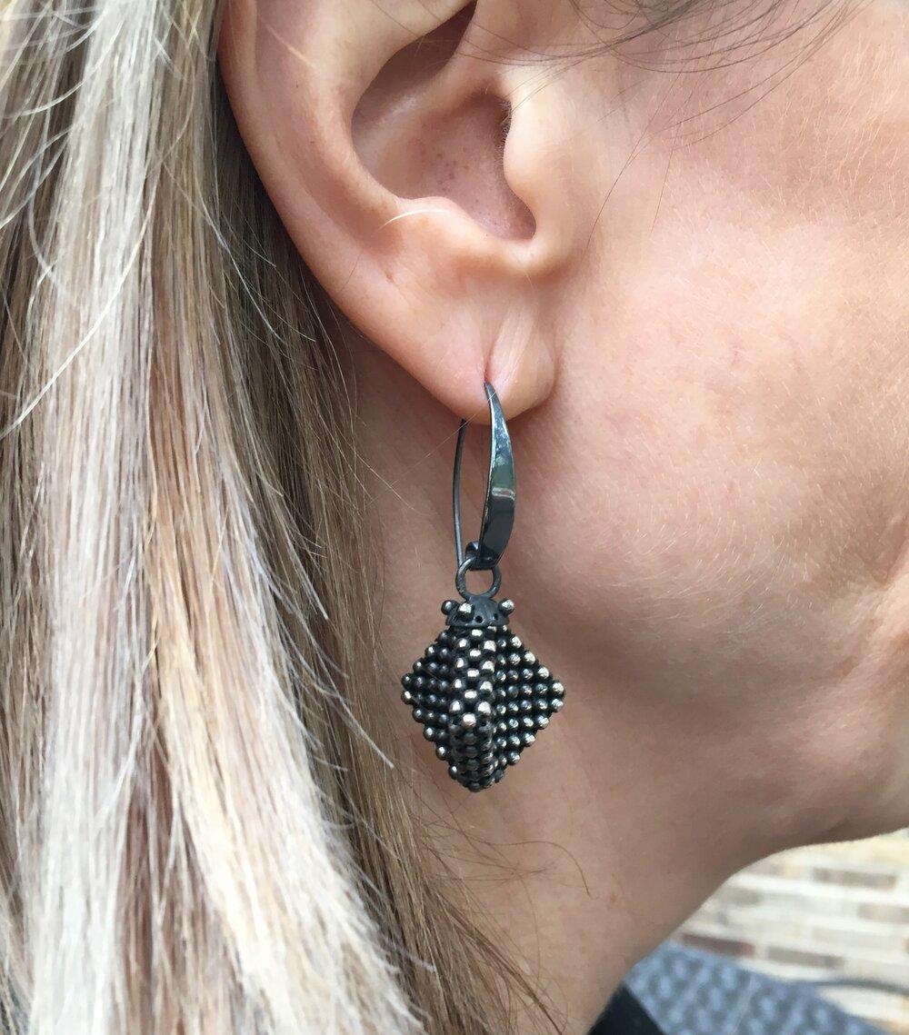 Sterling Silver Kite Earrings
