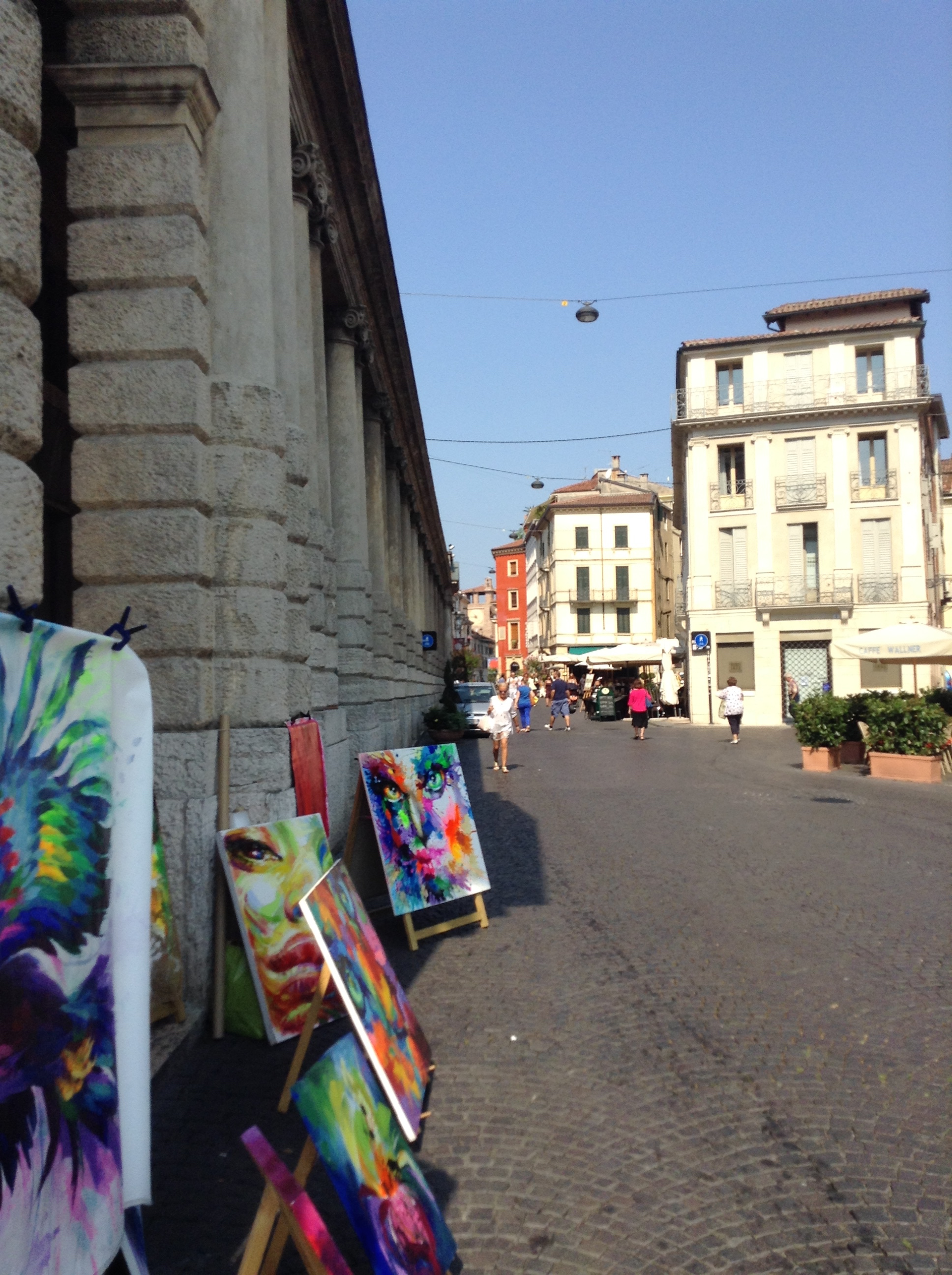 And for as long as the world survives, there will be a place for new art. (Piazza Bra, Verona)