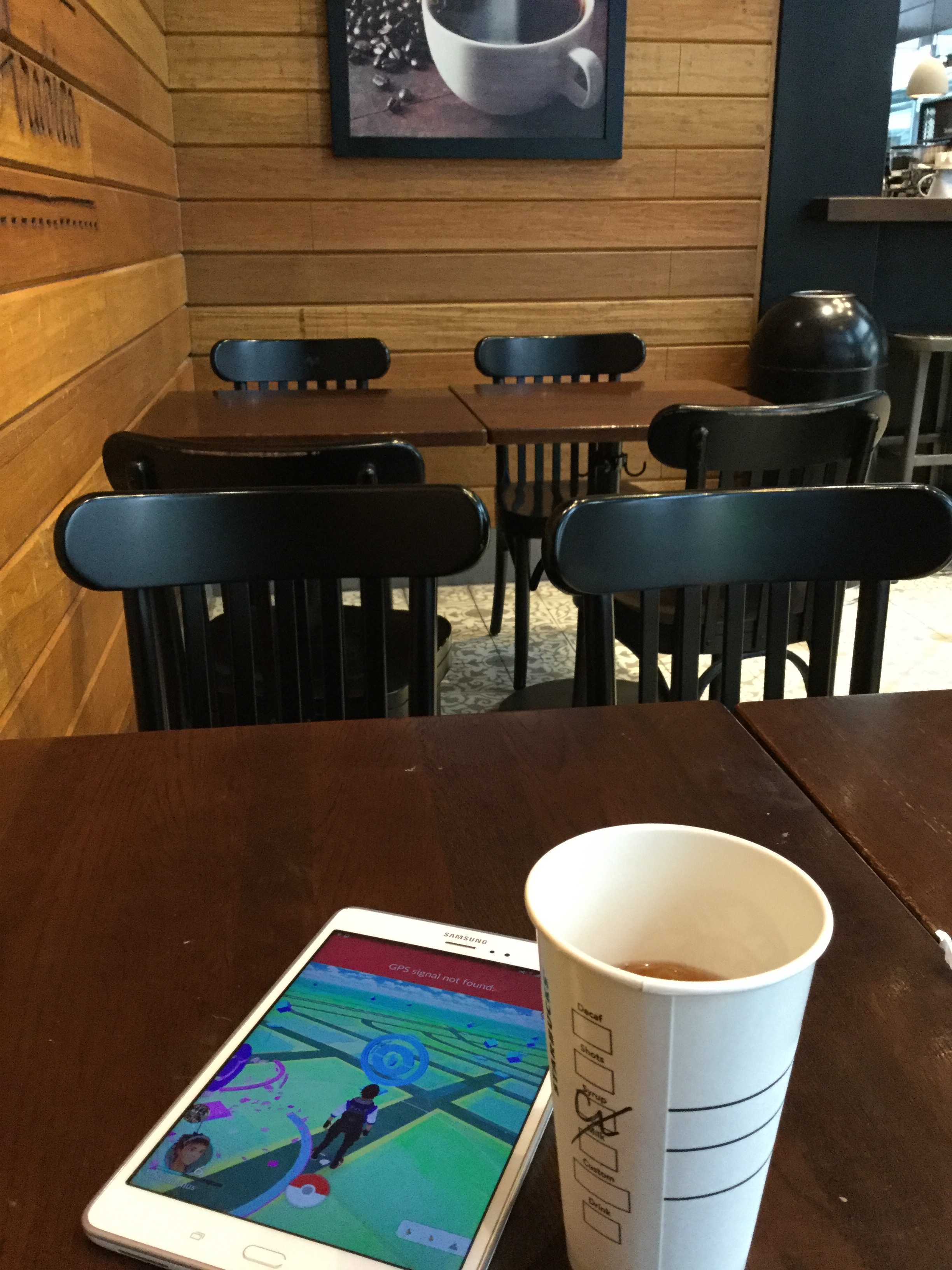 I am not a tea drinker but the Starbucks along Rufino Street had two pokestops you could access every five minutes while downing some iced Earl Grey. It also actually had pokemon that weren't Pidgeys, Rattatas, or Zubats.