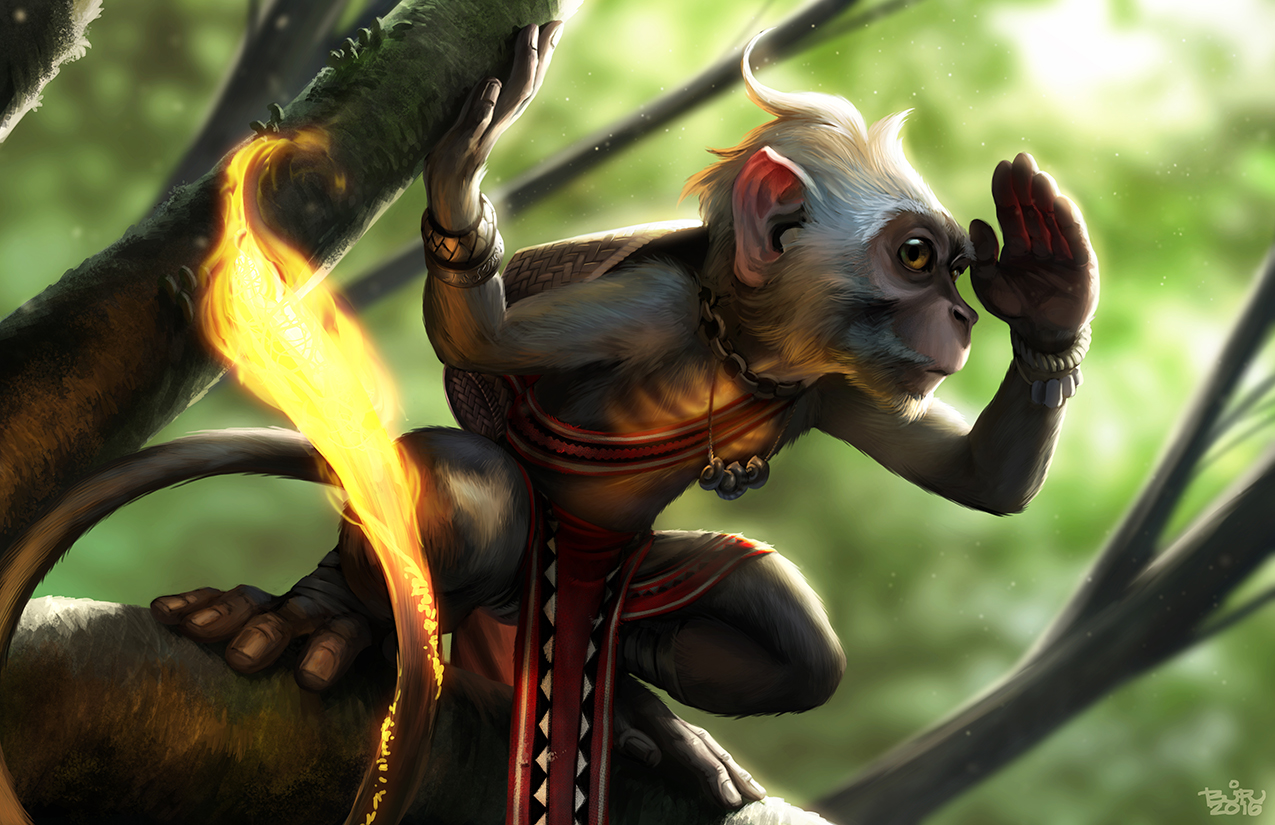 The grass burns brighter on the other side of the fence. Art by Brian Valeza.