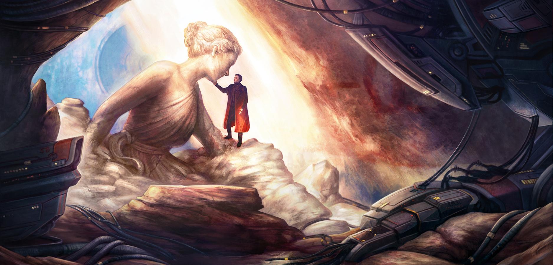 I am Ozymandias, look upon my works, ye mighty, and despair. Art by Jen Santos.