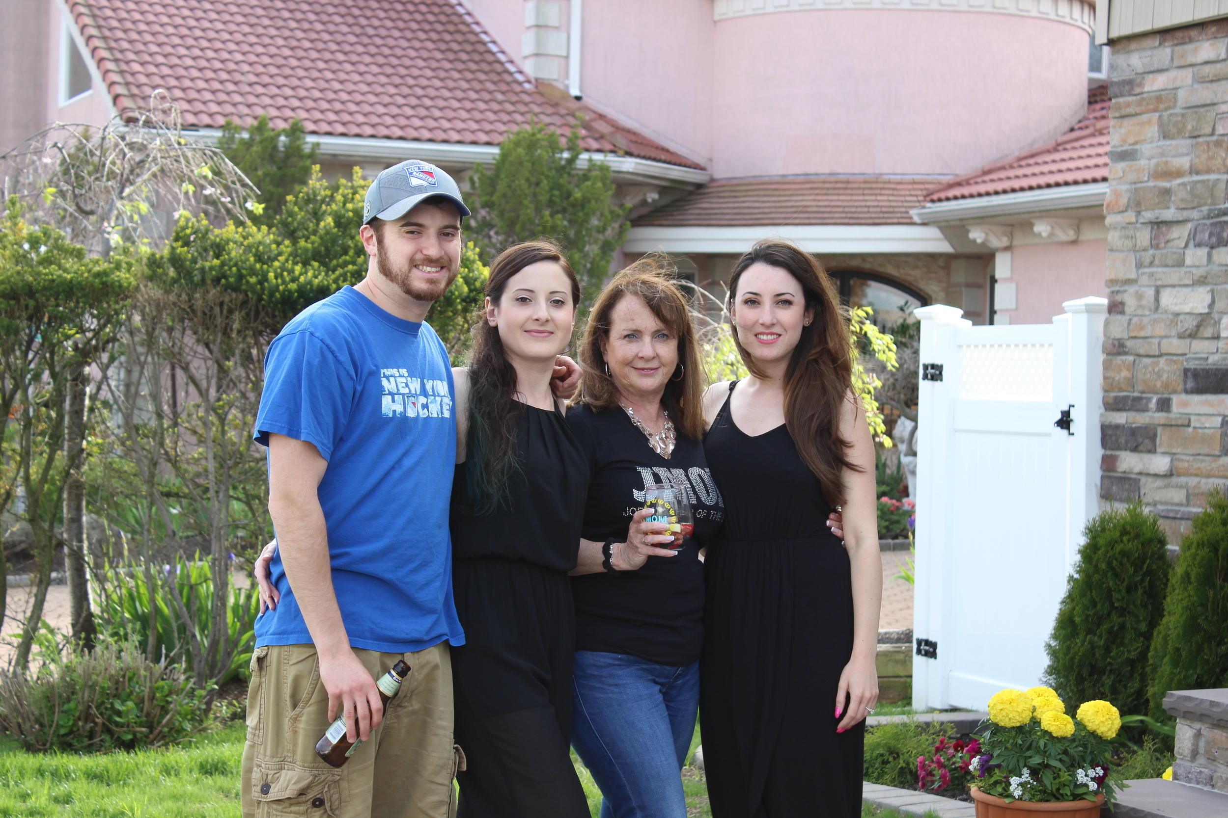 From left to right, my brother Anthony, my sister Laura, my mom, and me