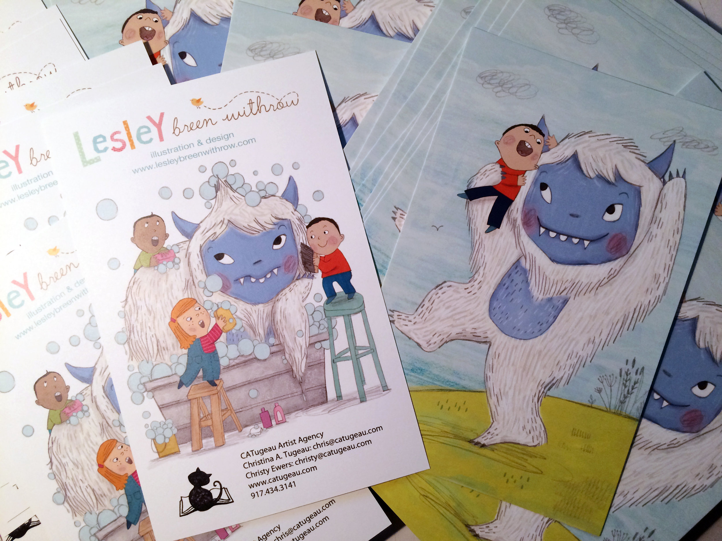 Was fun to receive my latest postcard in the mail the other day. My agent is sending them out to lots of publishers. Yeti the fun begin!!
