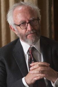 Jonathan Pryce - a Welsh actor and singer with film and stage credits, including Game of Thrones,Pirates of the Caribbean, Brazil, and Hamlet