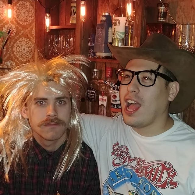 Happy birthday to our swell drummer @tommy_mendoza here he is with some weirdo . . Come celebrate at @pierogifest this Saturday!