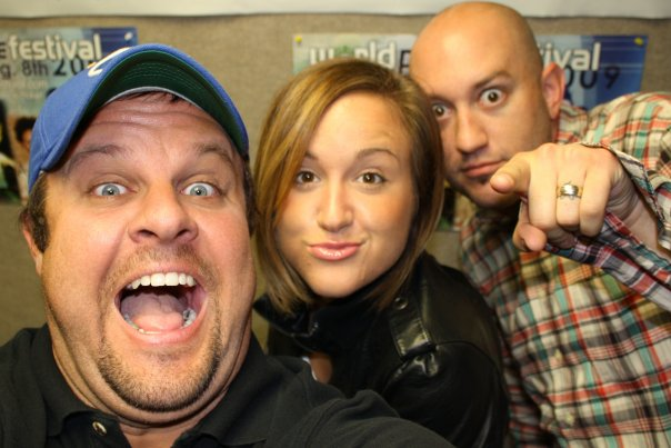 This is Corey Mann from PulseFM in South Bend, IN and my good friend, Britt Nicole. This was taken on one of my final promo trips in 2010. I'm looking forward to getting out on the road again to visit friends at radio! Corey is a great dude. He's also a great artist...seriously legit! You can see his drawings on his  Instagram feed . You can also buy them.