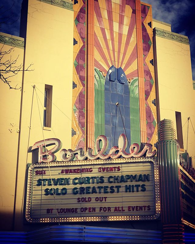 Gonna be a great night with @stevencurtischapman and my mama in Boulder, CO.