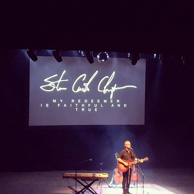 Special night with @stevencurtischapman in Boulder, CO! I love the way he shares the beauty of the gospel and the grace of God that's all over his life (and mine). Thankful for his ministry!
