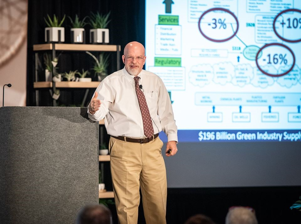 Charlie Hall, Ph.D, speaks at TPIE's 2019 Elevating Expectations session. Photo Courtesy FNGLA