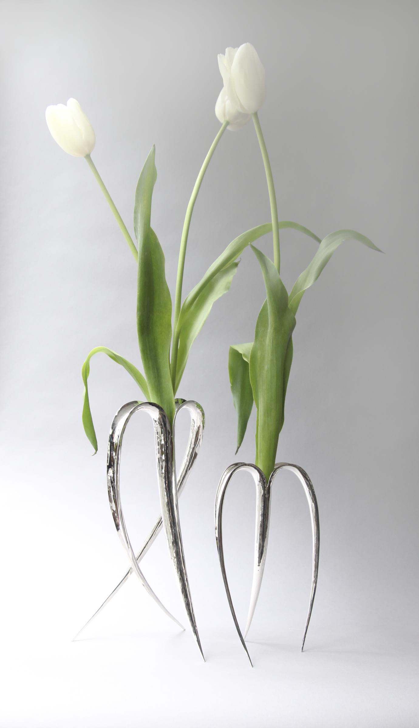 Blade Vases Silver