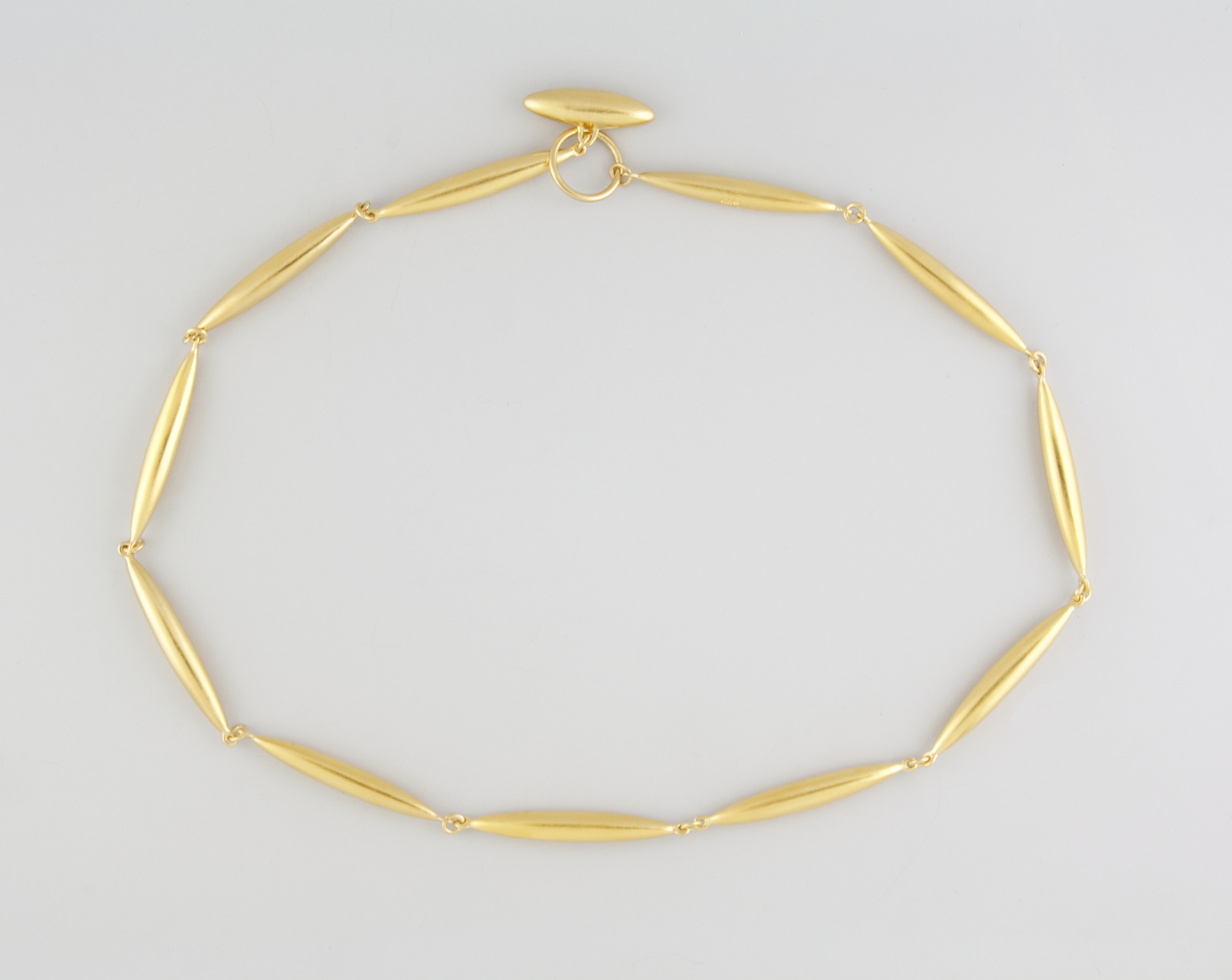 Rice Necklace Gold Plate
