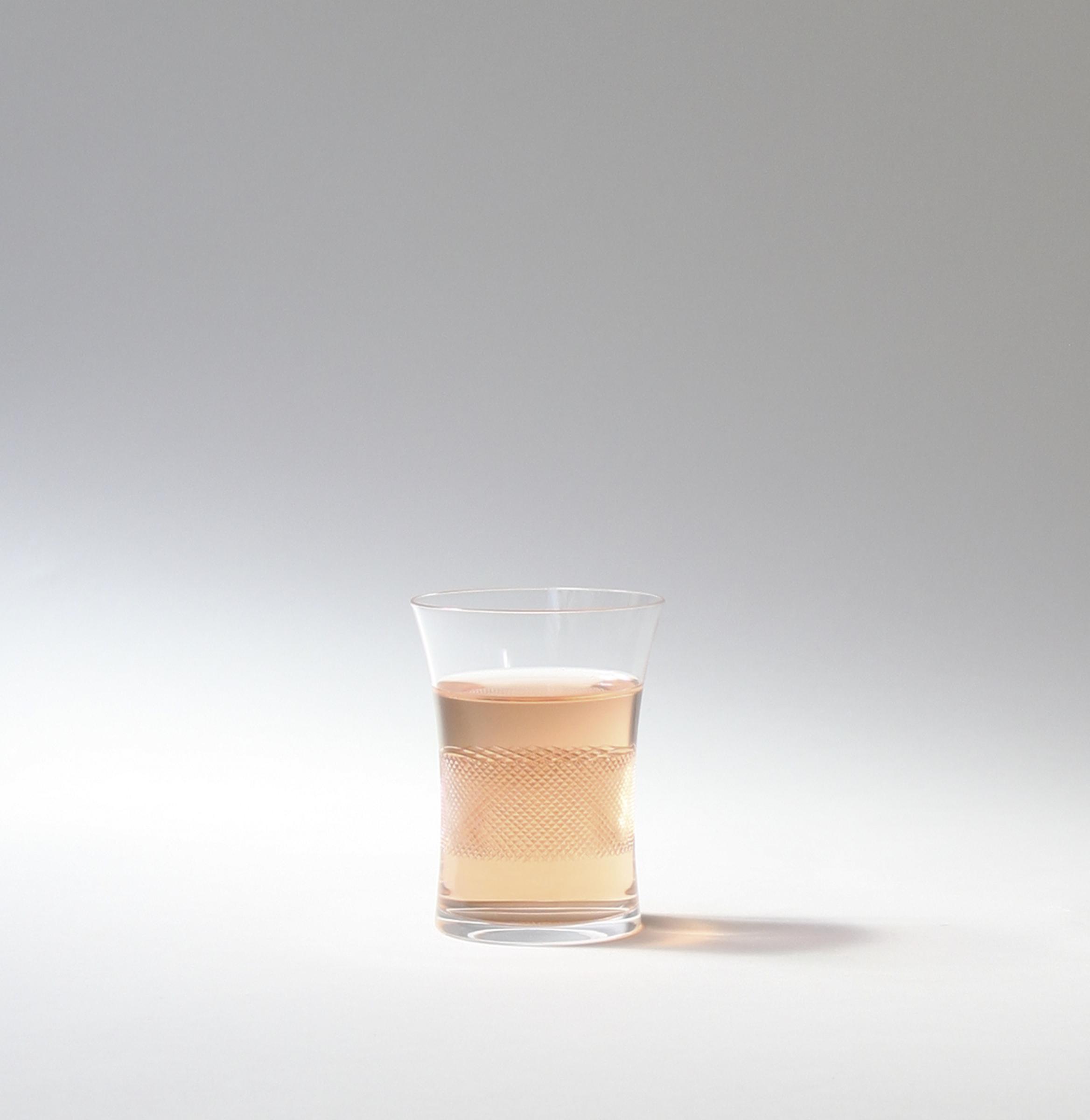 Cross Cut Wine Glass