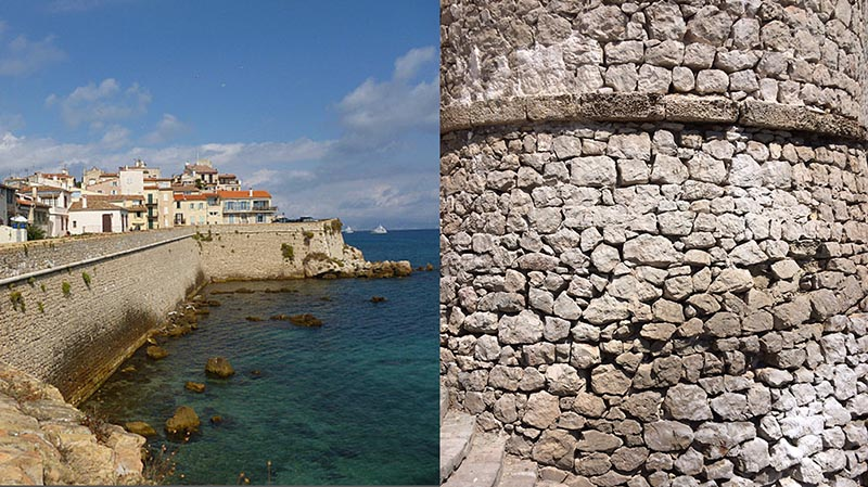 Antibes and the wall, I made some casts of it...