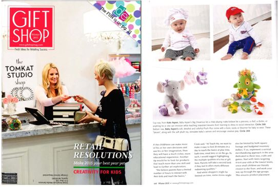 Gift Shop Magazine Featuring 4 Baby Aspen Products.JPG