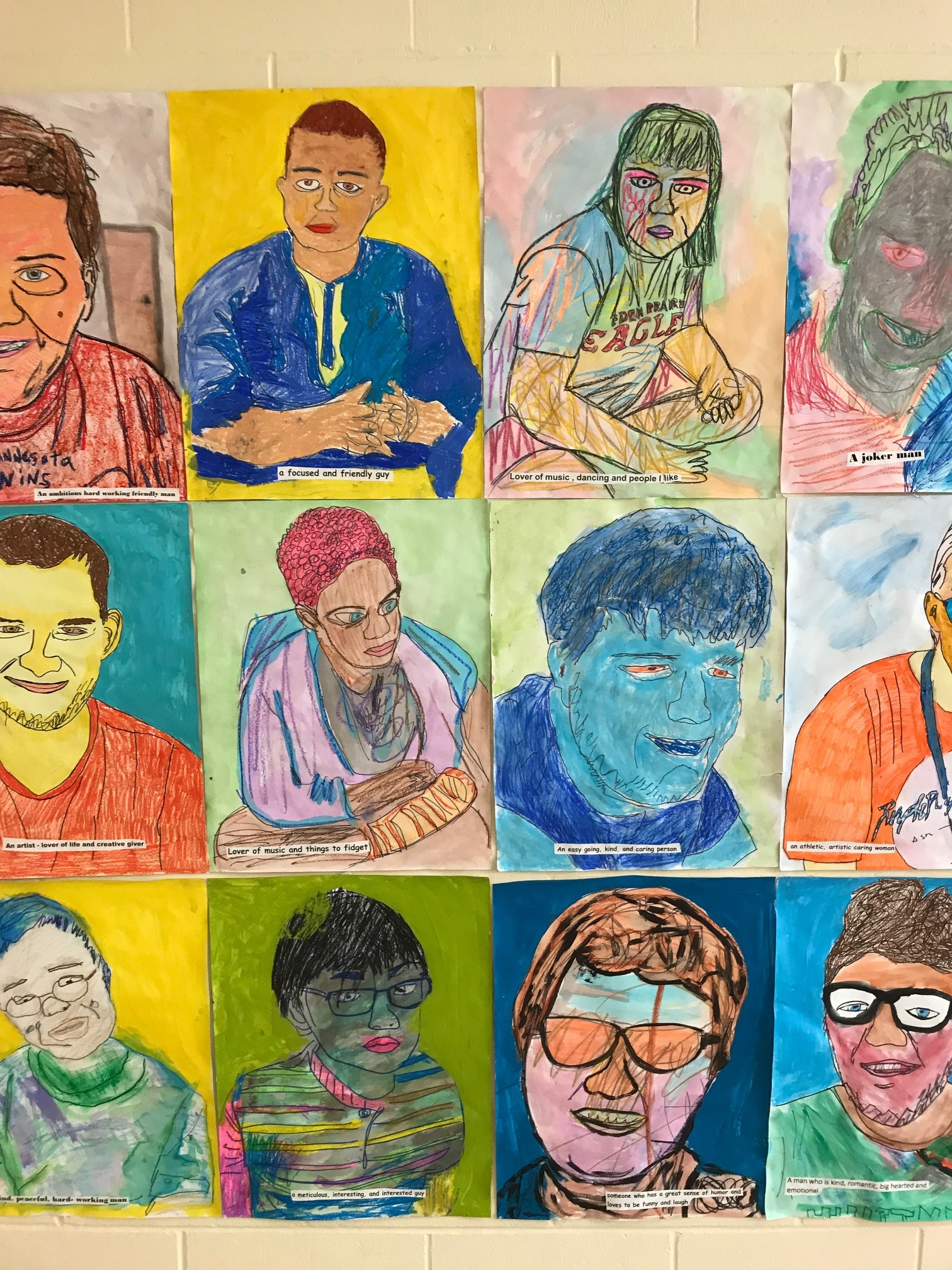 Art from students at the South Education Center