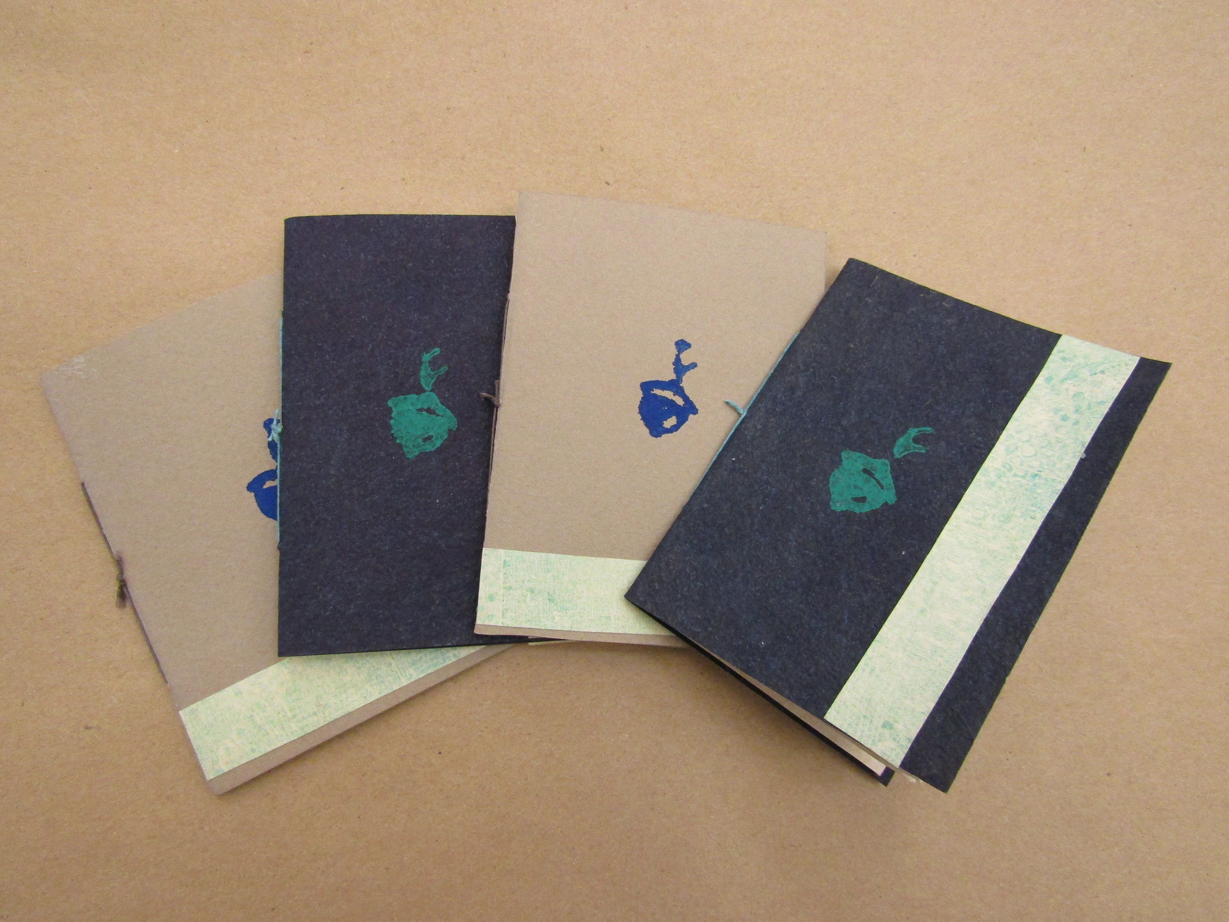 Pamphlet Books With Stamped Covers