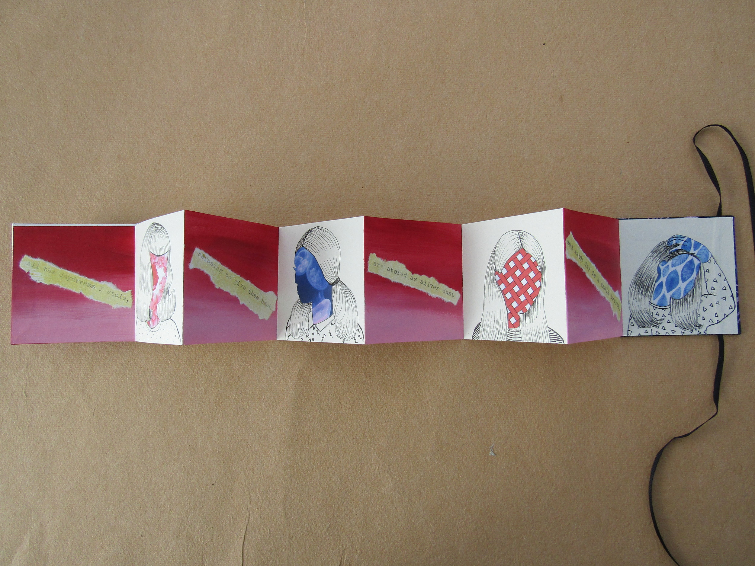 Accordion Book With Collaged Images