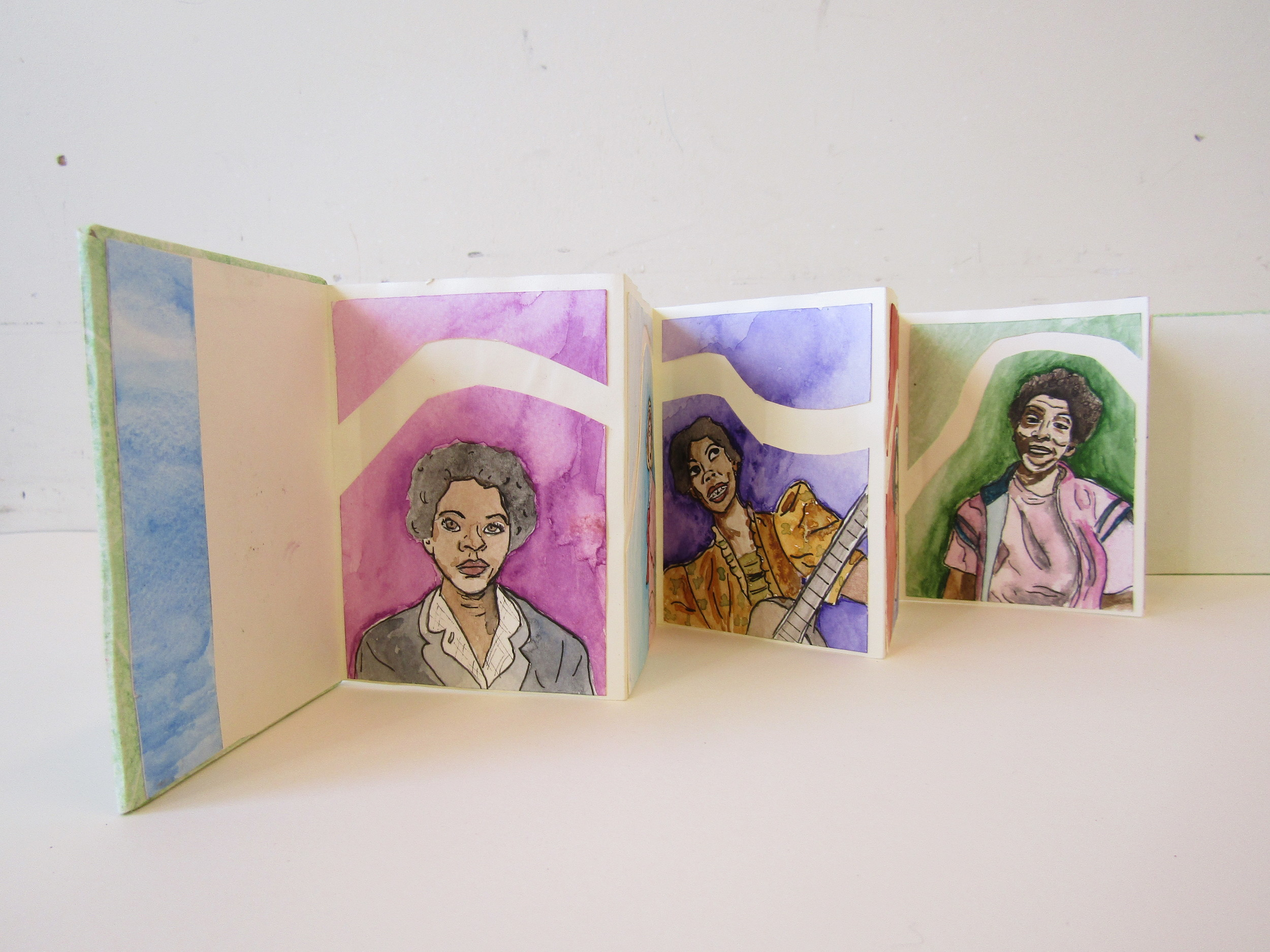 Accordion Book With Painted Images