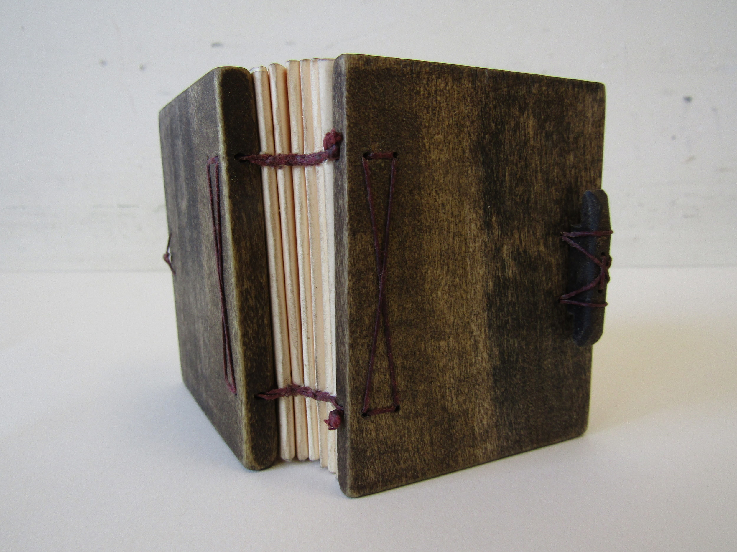 Two Needle Coptic Binding With Wooden Covers