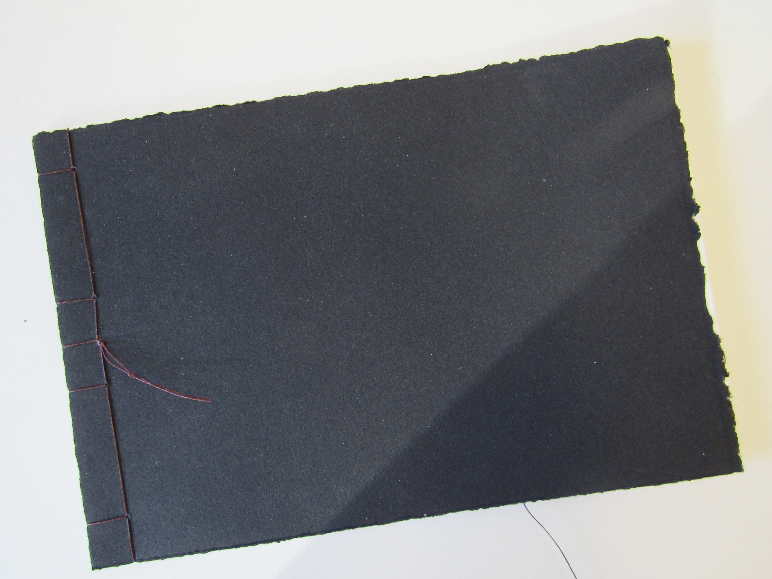Each of us (myself included) completed a suite of prints to exchange - we bound them into a Japanese stab binding like this.