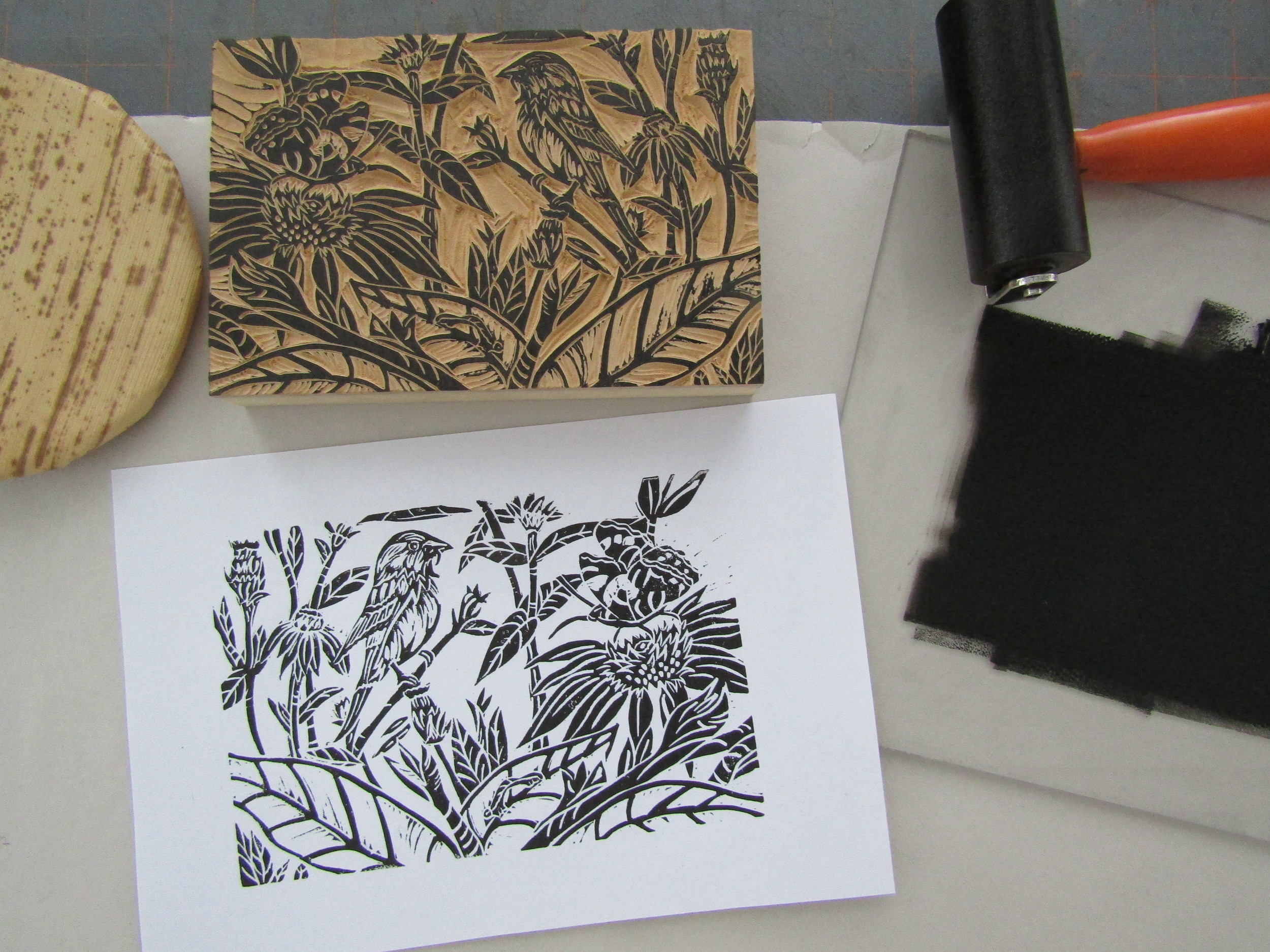 Proofing the print in my studio.