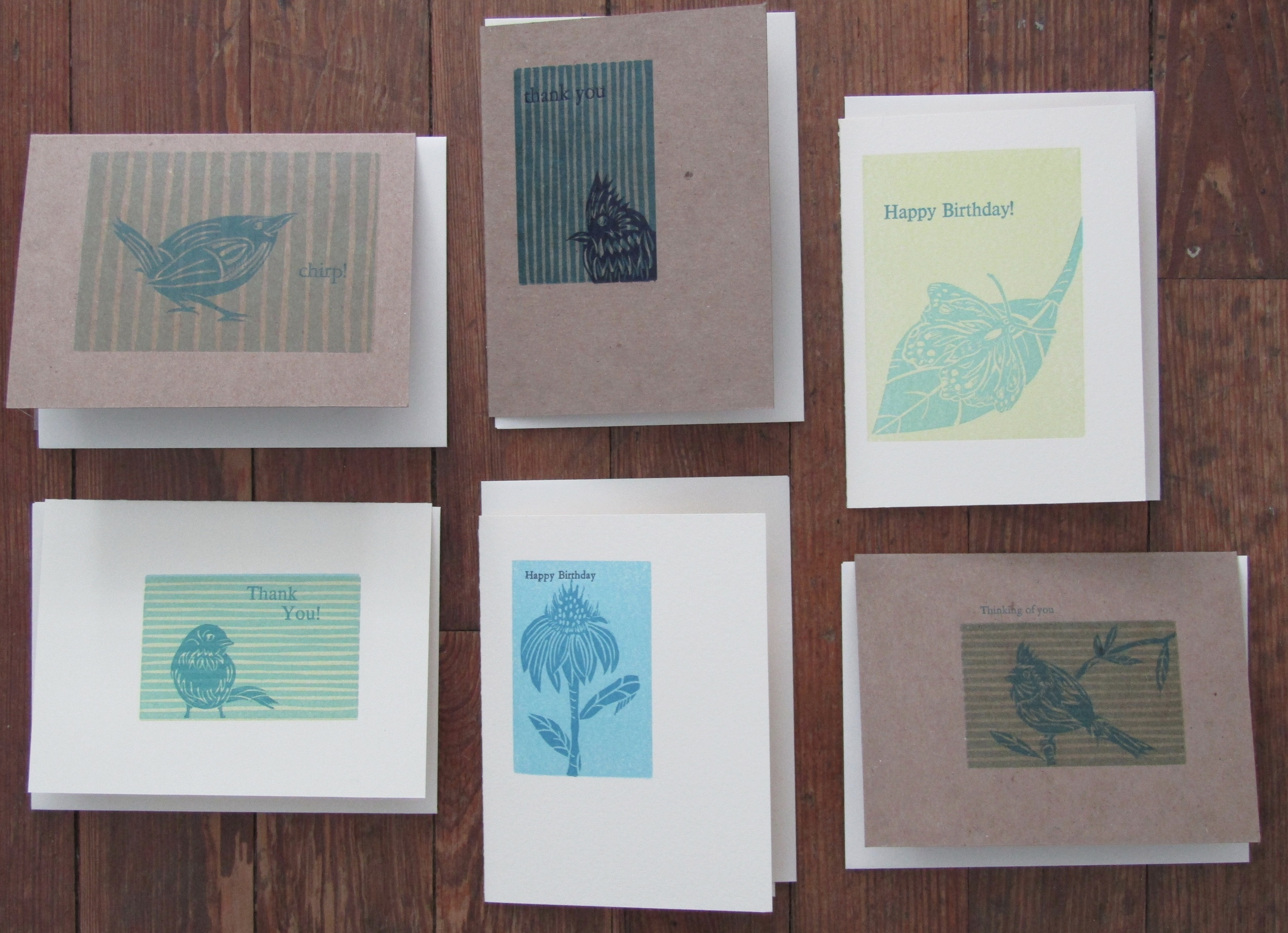 A variety of greeting cards!