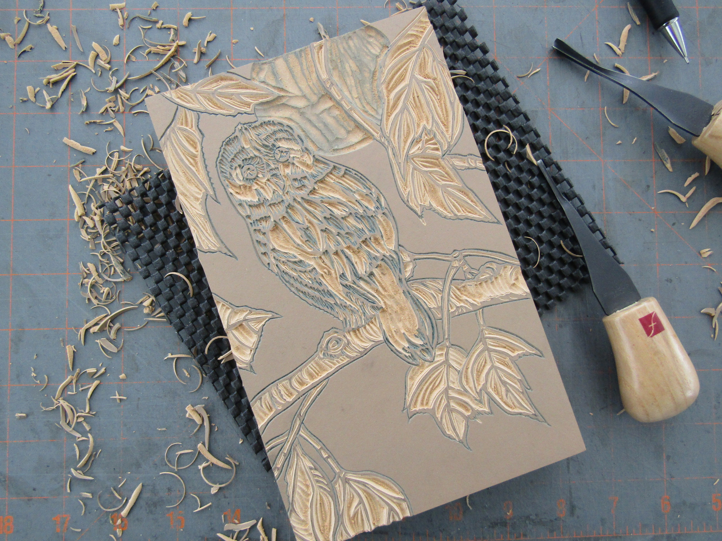 Carving continues; developing the image.
