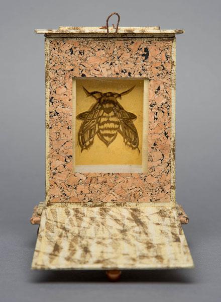 Interior of  Bee Reliquary .
