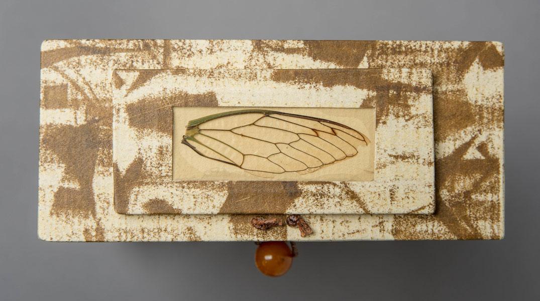 Detail of top of  Cicada Reliquary .