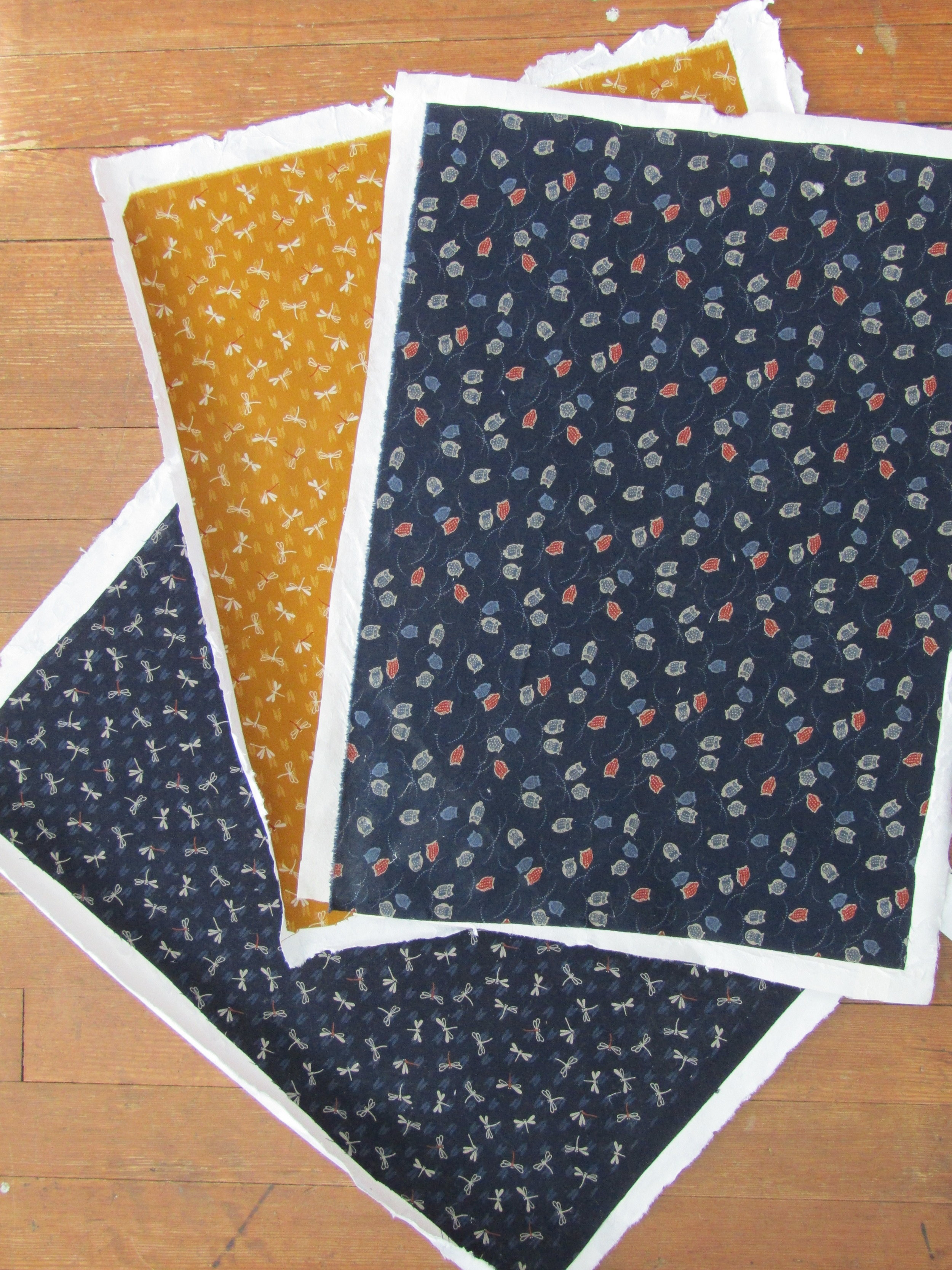 Fabric backed with kozo paper; ready to use!