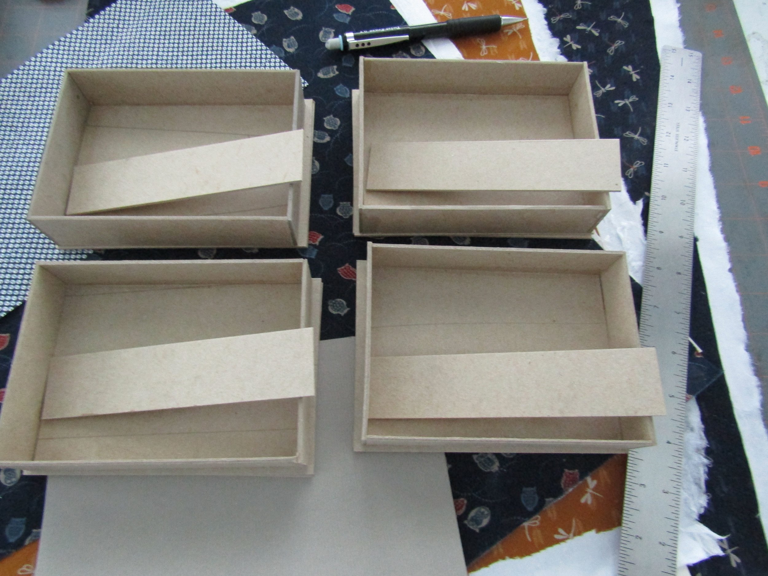 Trays constructed; now for a bit of sanding and then to cover and assemble!