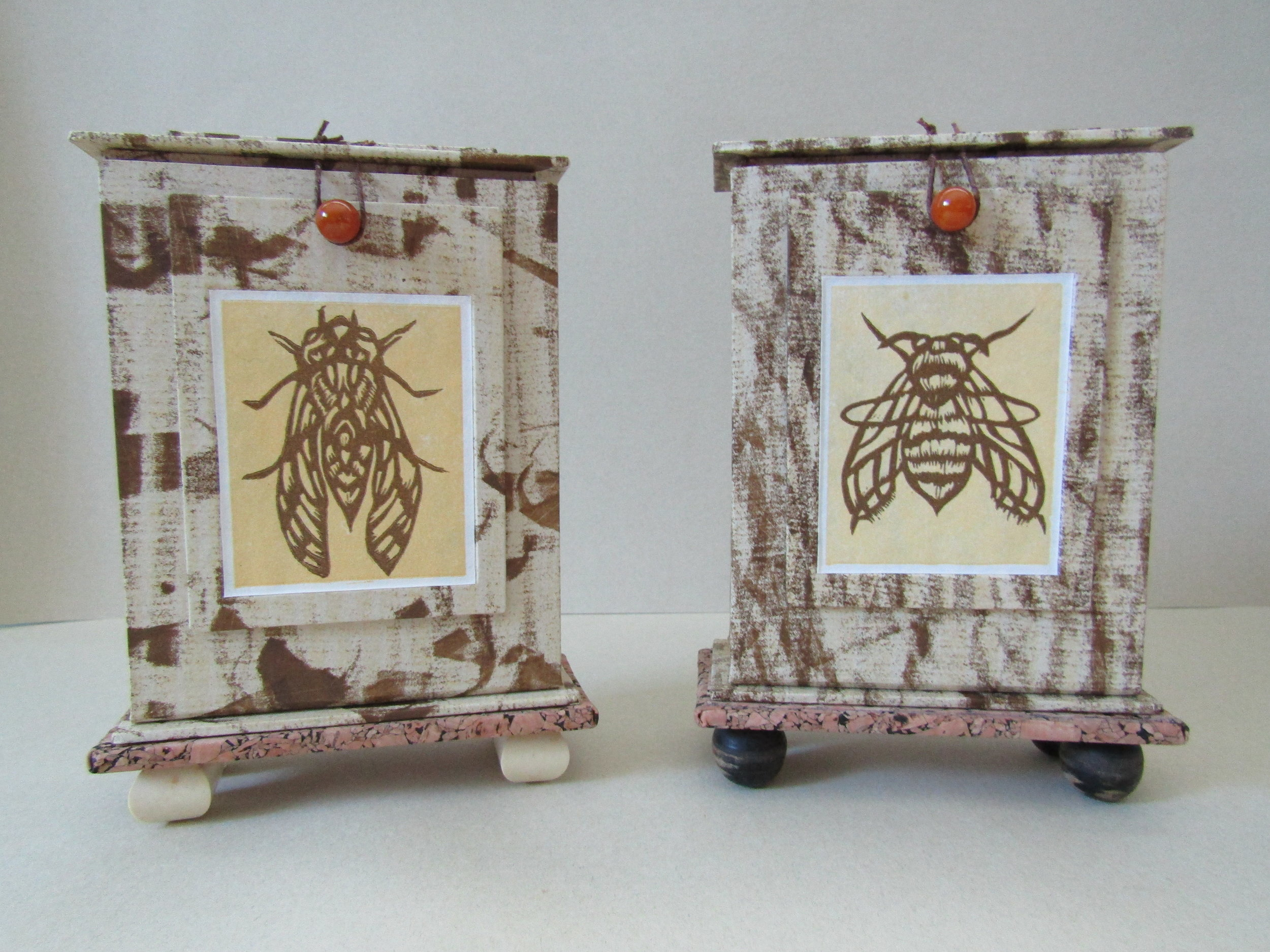 Completed Cicada and Bee reliquaries.