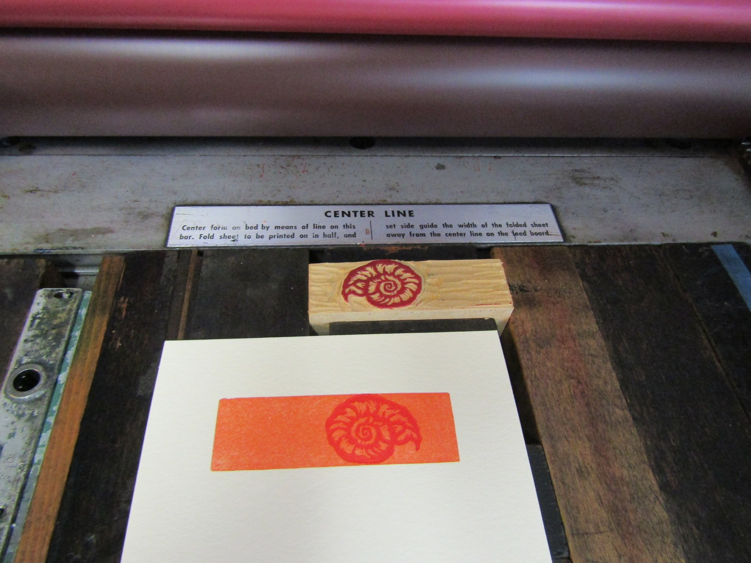I printed the shell on a small mat of orange.